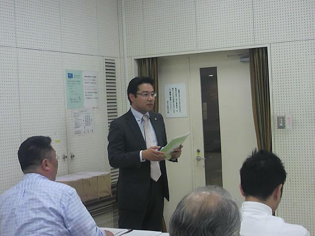 岩切 企画部長の講師紹介