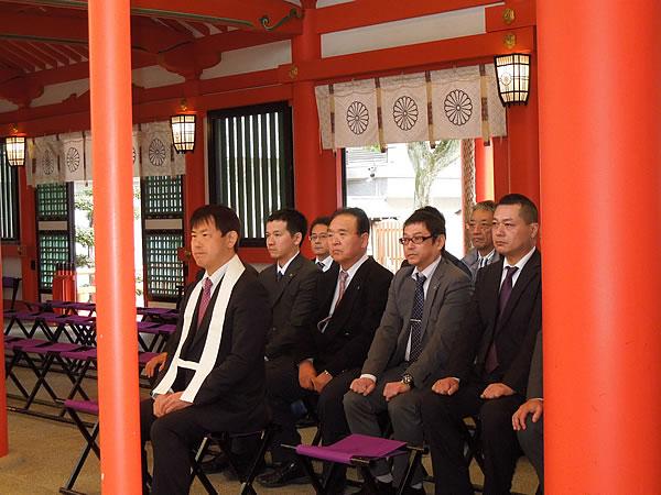 生田神社にて 新年祈願