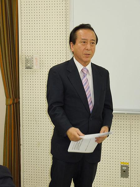橋本 BC・広報部会長より講師紹介