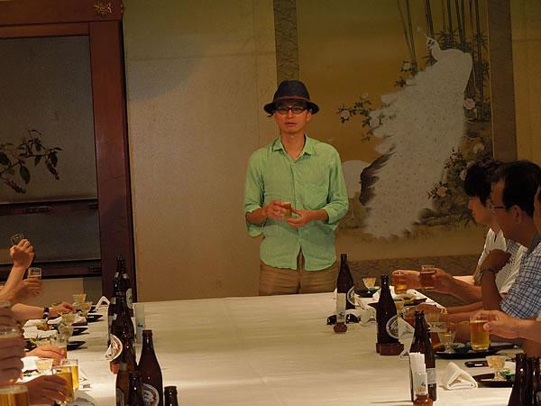 松浦企画B部会長の乾杯
