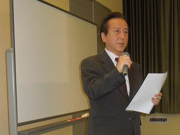 橋本BC・広報部会長の講師紹介