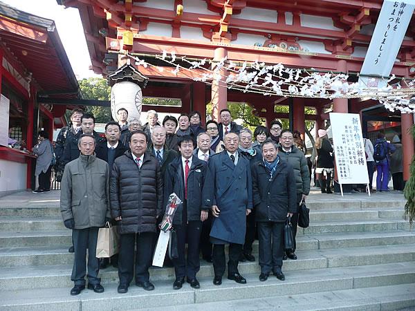 新年祈願生田神社